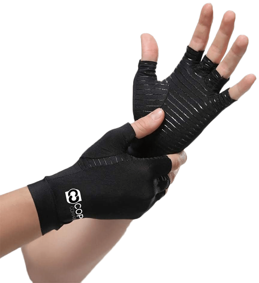 Copper Compression Arthritis Gloves Fingerless - Offers the Best Hand Support